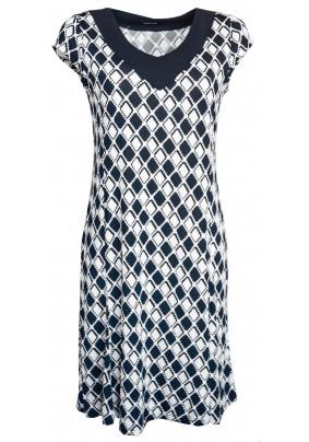 Elegantní letní modro bílé šaty