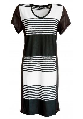 Černo bílé elegantní šaty ve větších velikostech