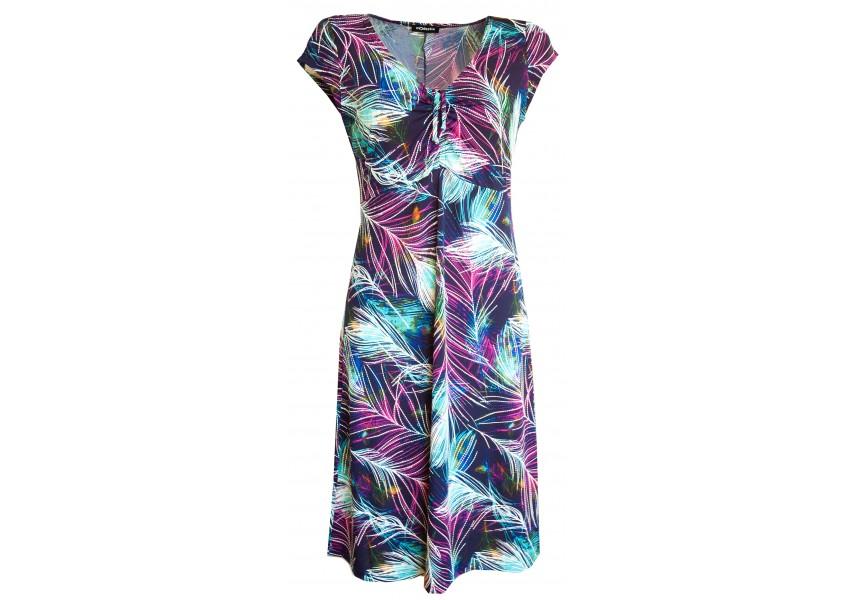 Letní šaty s barevným tiskem