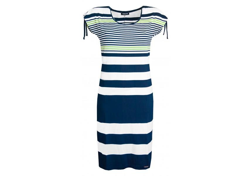 Pruhované letní rovné šaty