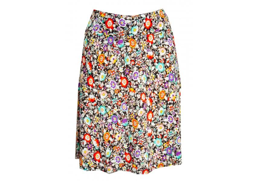 Barevná letní krátká sukně