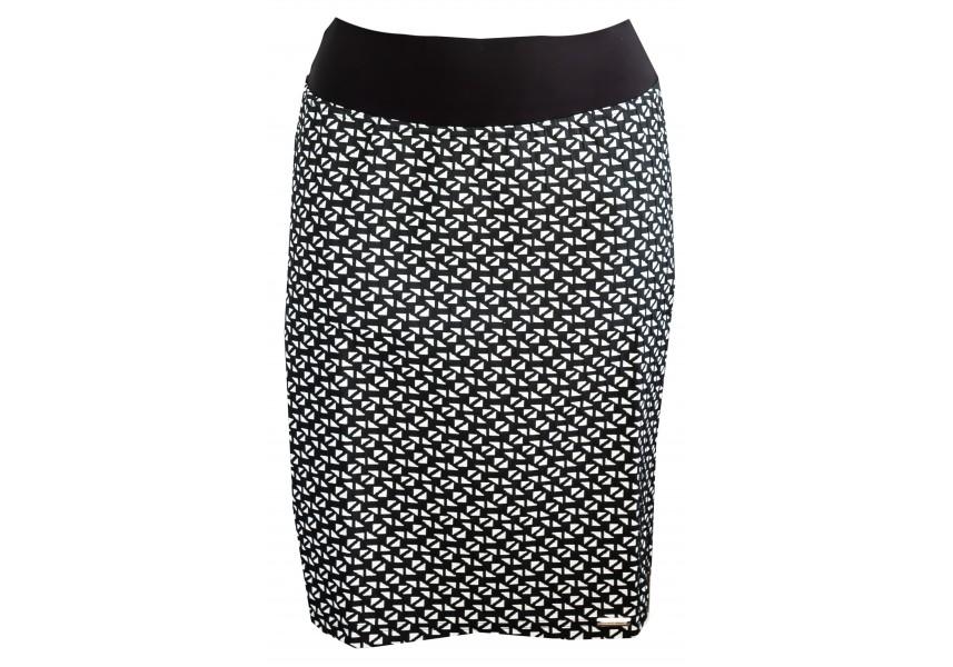 Krátká černo bílá sukně