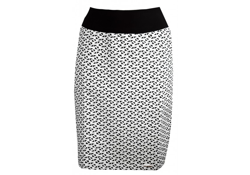 Bílo černá krátká sukně