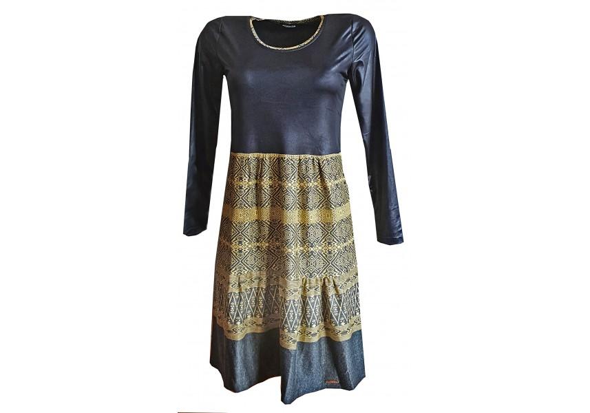 Černo šedé šaty s kanýry