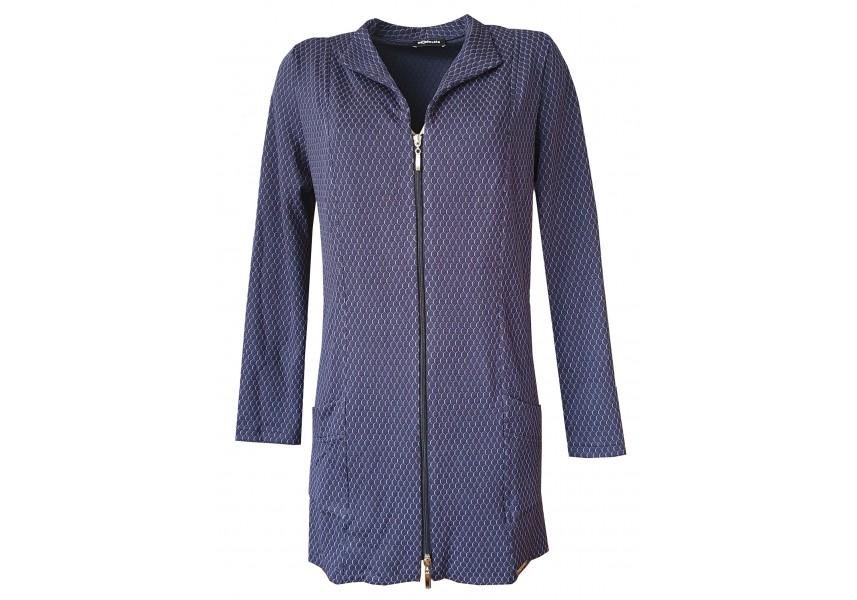 Tmavě modré prodloužené sako
