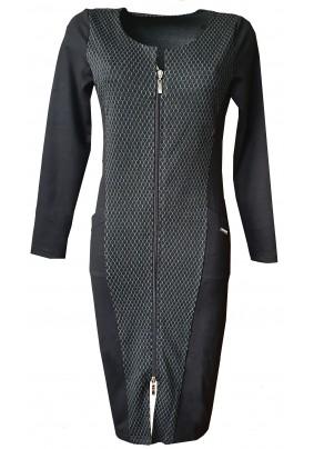 Rozepínací šaty na zip s dlouhým rukávem