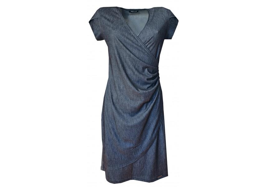 Šaty z imitace džínoviny