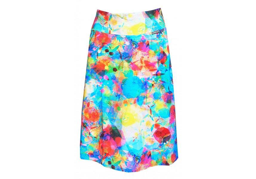 Krátká barevná sukně do A