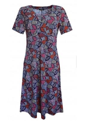 Barevné šaty s krátkým rukávem