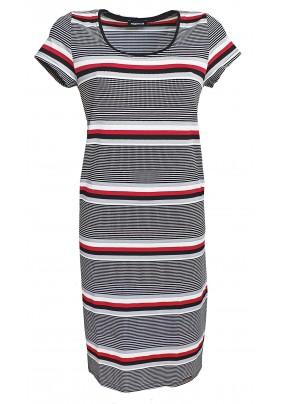 Pruhované šaty s kapsami