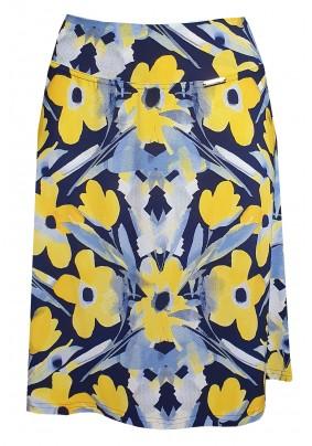 Krátká sukně se žlutými květy
