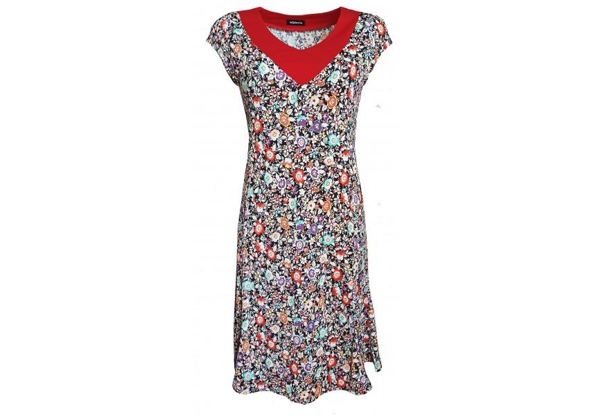 Letní šaty s drobnými barevnými kvítky