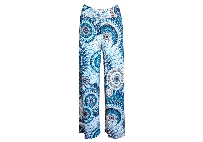 Letní kalhoty s modrým tiskem