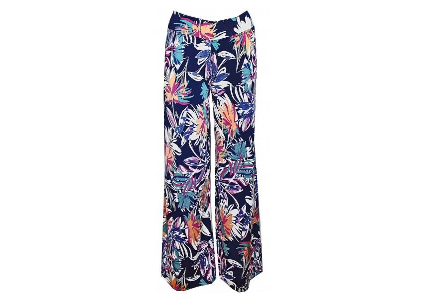 Letní dlouhé kalhoty s barevným tiskem