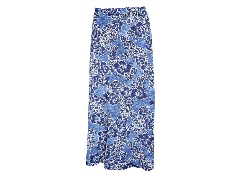 Dlouhá dílová modrá sukně