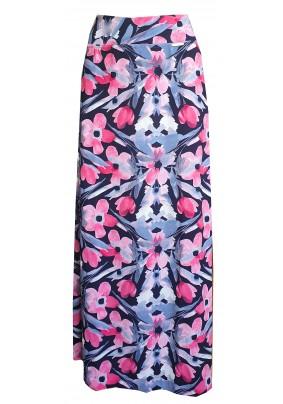 Dlouhá sukně s tiskem růžových květů