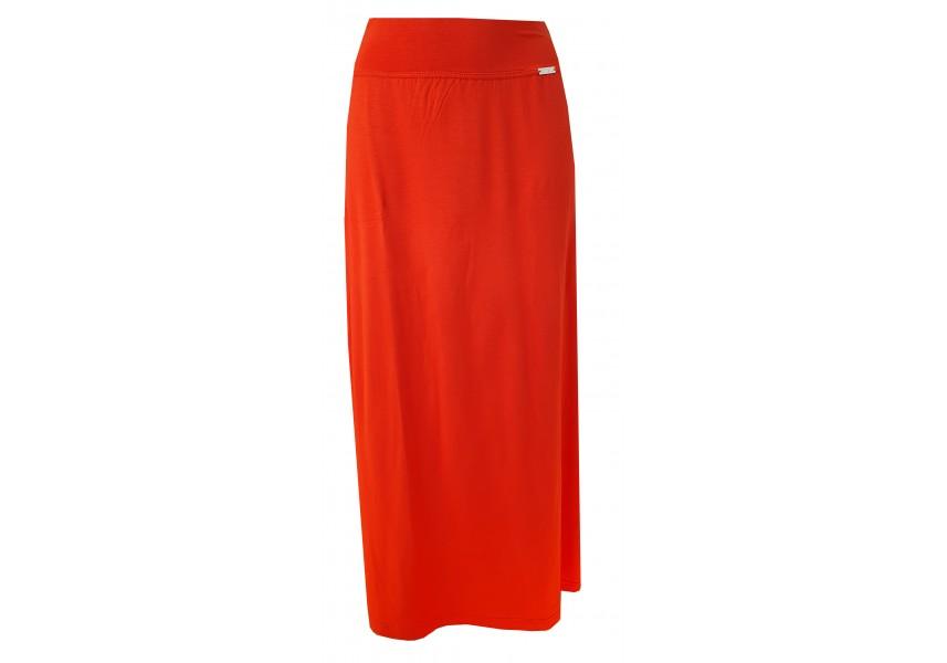 Oranžová dlouhá sukně