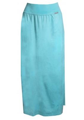 Světle tyrkysová dlouhá sukně