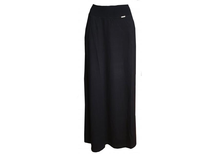 Černá dlouhá sukně s kapsami