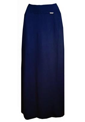 Modrá dlouhá sukně s kapsami
