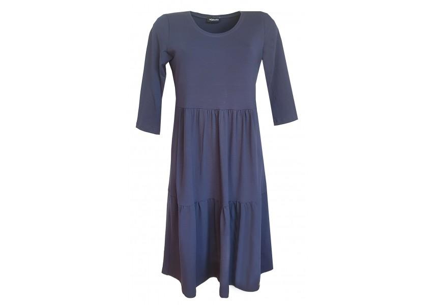 Kanýrové šaty tmavě modré